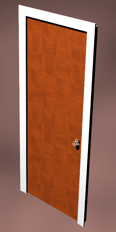 marquetry door and frame